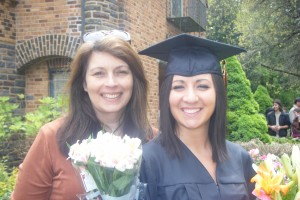 me and mom at graduation